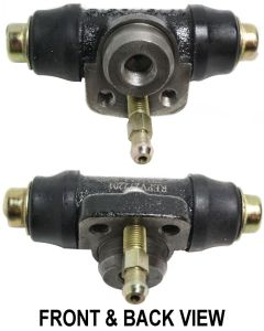 RABBIT 75-84 WHEEL CYLINDER, Rear, 14 mm Bore Dia., w/ Brass Inverted Flare Insert For Positive Leak