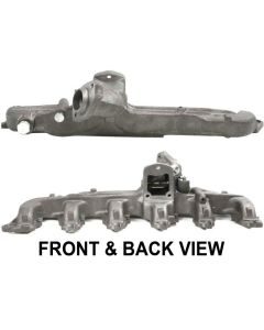 BRONCO 80-86 6 Cylinder EXHAUST MANIFOLD, 50-state legal, Cast iron construction; With wrap around heat shield