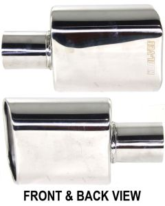 Stainless Steel Exhaust Tip Oval rolled stainless steel tip